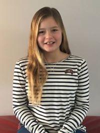 Marlinde Klompe, 11 jaar, maat 164 Annica Karst