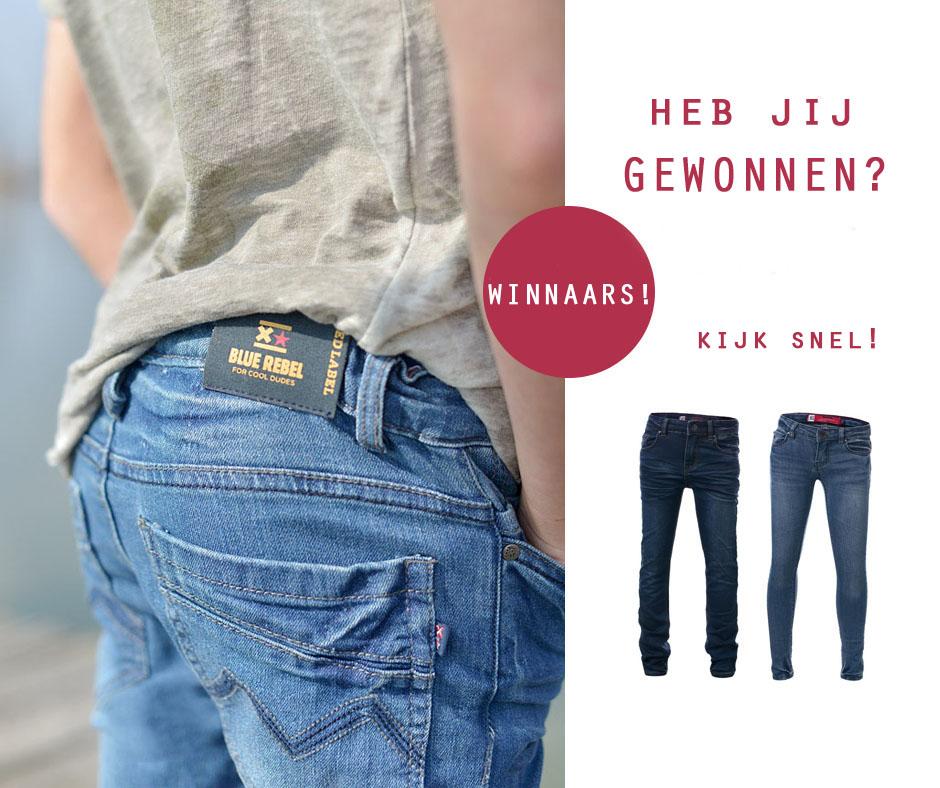 Heb jij een jeans van Blue Rebel gewonnen?