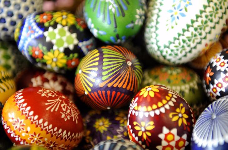 Easter eggs decorated in a Sorbian wax t