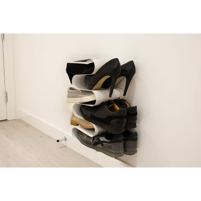 homeze wall hanging vertical compact small shoe rack storage organiser wall mounted space saver for entryway door bathroom bedroom holds up to 7 pairs