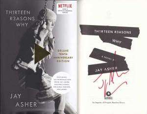 Jay Asher in-person autographed Book 13 Reasons Why