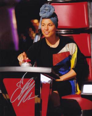 Alicia Keys in-person autographed photo