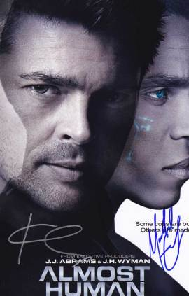 Almost Human In-person autographed Cast Photo