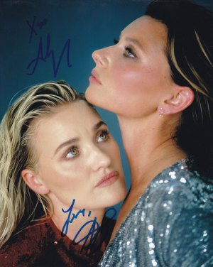 Aly and AJ Michalka In-person autographed Photo