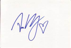 Ami Dolenz Autographed Index Card