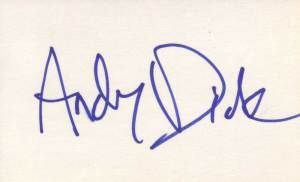 Andy Dick Autographed 3x5 Index Card