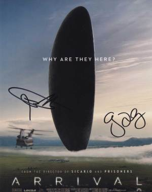 Arrival In-person autographed Cast Photo