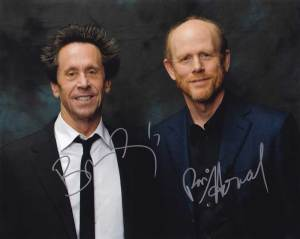 Brian Grazer and Ron Howard In-person autographed group Photo