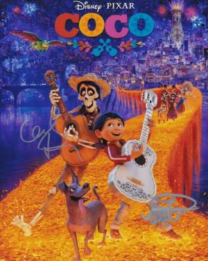 Coco In-person autographed Cast Photo signed by 2