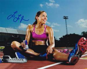 Lolo Jones In-person Autographed Photo