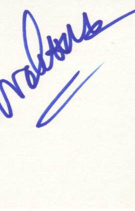 Lorenzo Lamas Autographed Index Card
