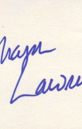 Sharon Lawrence autographed 3 x 5 index card