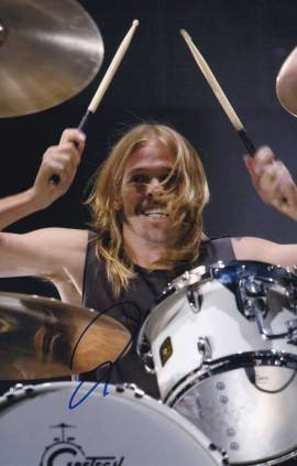 Taylor Hawkins in-person autographed photo