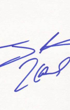 Tiny Lister Autographed Index Card