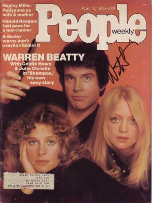 Warren Beatty in-person autographed People Magazine