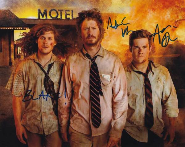 Workaholics In-person autographed Cast Photo