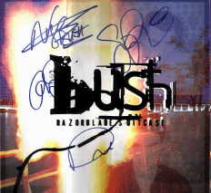 Bush in-person autographed Razorblade Suitcase LP Flat