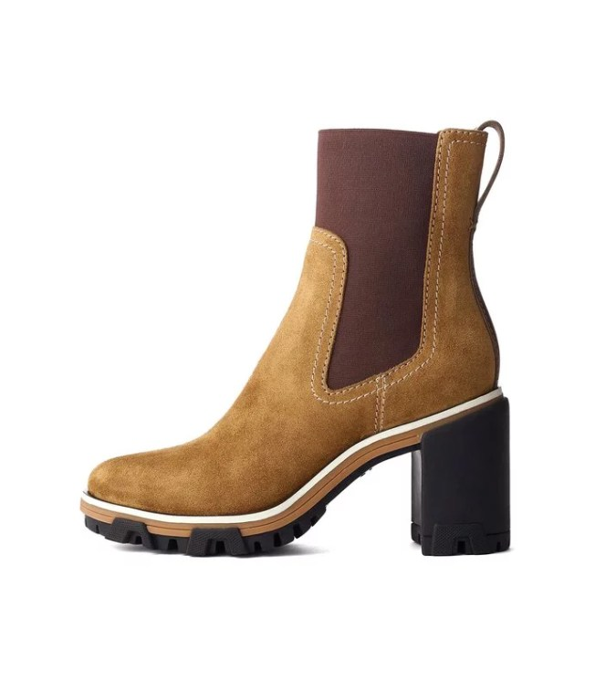 Shop BAZAAR - Shiloh High Boot in Golden Brown