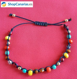 Pulsera ShopCanarias.es de macramé de varios colores