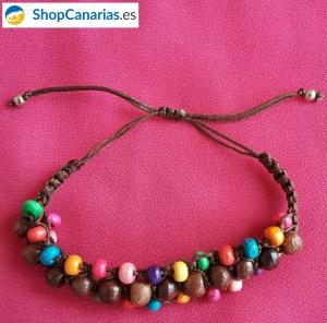 Pulsera ShopCanarias.es de macramé multicolor