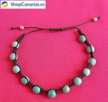Pulsera de Macramé de la marca Shopcanarias.es Azul Turquesa