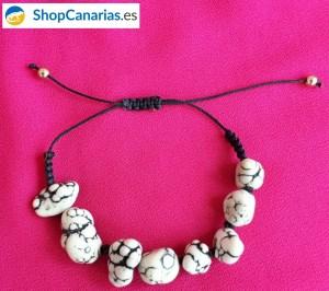 Pulsera ShopCanarias.es de macramé con piedras