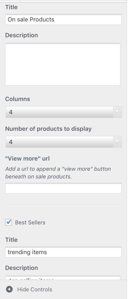 storefront powerpack homepage headings in customizer