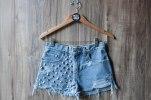 Daze & Amaze Denim High Waisted Levi Studded Shorts
