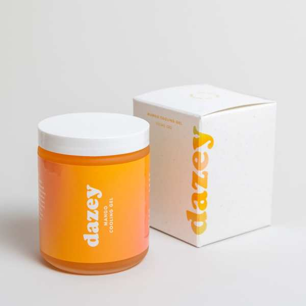 dazey mango cooling gel with compostable packaging