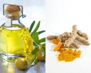 Trị nám da bằng dầu oliu mật ong và nghệ