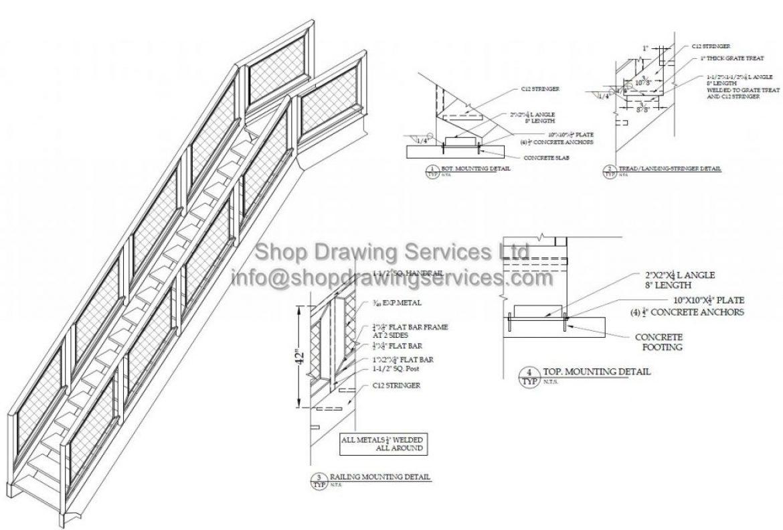 Metal Stair Shop Drawings