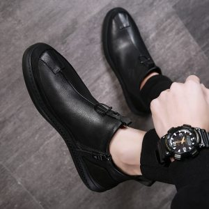 Autumn-Early-Winter-Shoes-Men-Genuine-Leather-Chelsea-Boots-Fashion-Male-Shoes-Cow-Leather-Man