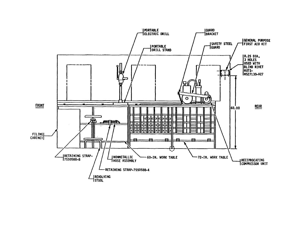 Figure 3 Components To Be Mounted M109a3 Right Side Elevation