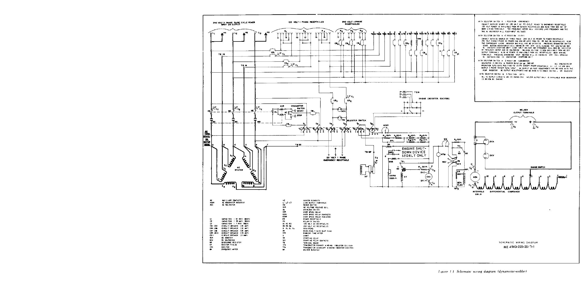 Figure 1 1 Schematic Wiring Diagram Dynamotor Welder