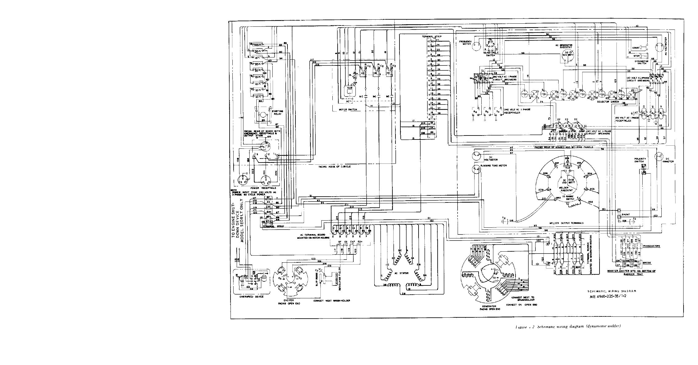Figure 1 2 Schematic Wiring Diagram Dynamotor Welder