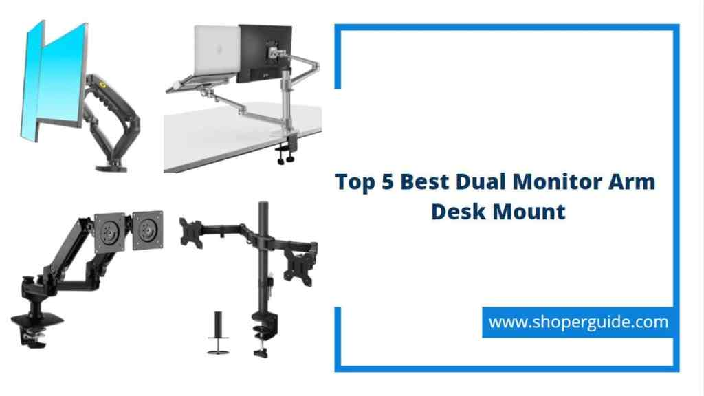 best dual monitor arm desk mount