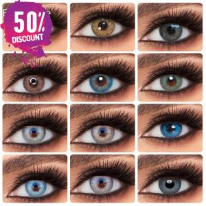 Blue Green Brown Grey Colored Eye Contact Lenses for Natural Look Eye Contact Lenses FREE SHIPPING
