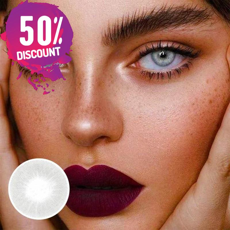 Super Natural Gray Colored Eye Contact Lenses Aurora Color For Colored Eyes