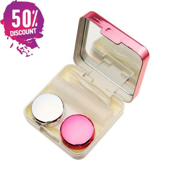 Colored Contact Lenses Case With Mirror Lovely Contact Lenses Travel Kit Box Accessories FREE SHIPPING 8