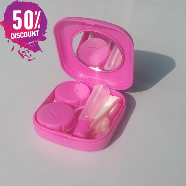 Square Eye Contact Lenses Case with Mirror Colored Eye Lens Travel Kit Box Accessories FREE SHIPPING 8
