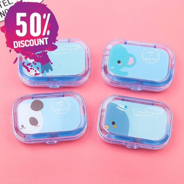 Cartoon Candy Color Eye Contact Lenses Case Travel Kit Box with Mirror Accessories FREE SHIPPING 7