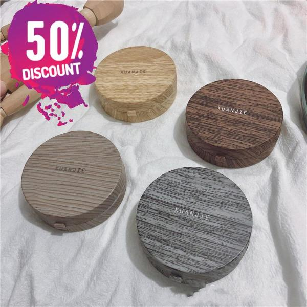 Beautiful Wooden Eye Contact lenses Case Container with Mirror Accessories FREE SHIPPING 6
