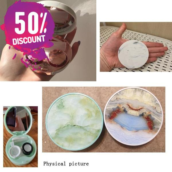 Marble Stripe Eye Contact Lenses Case Travel Kit Box Accessories FREE SHIPPING 8