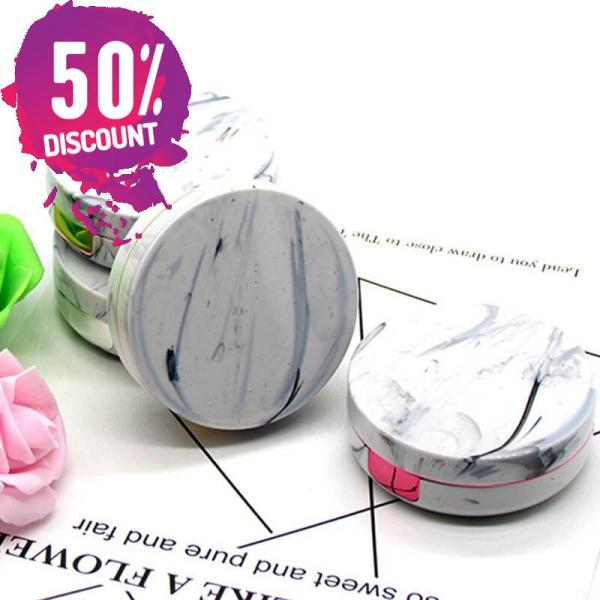 Round Marble Stripe Eye Contact Lenses Case Container Travel Box Kit Accessories FREE SHIPPING 6