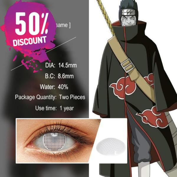 NARUTO Sharingan Contact Lenses Cosplay Colored Contacts for Anime Eyes Accessories FREE SHIPPING 8