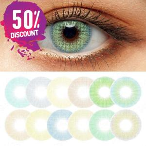 Queen Hidrocolor Colored Eye Contact Lenses-1 Year Use-Premium Quality Eye Contact Lenses FREE SHIPPING
