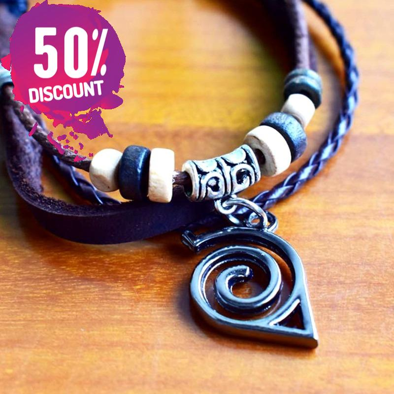Naruto Logo Bracelets and rings Anime cosplay Prop