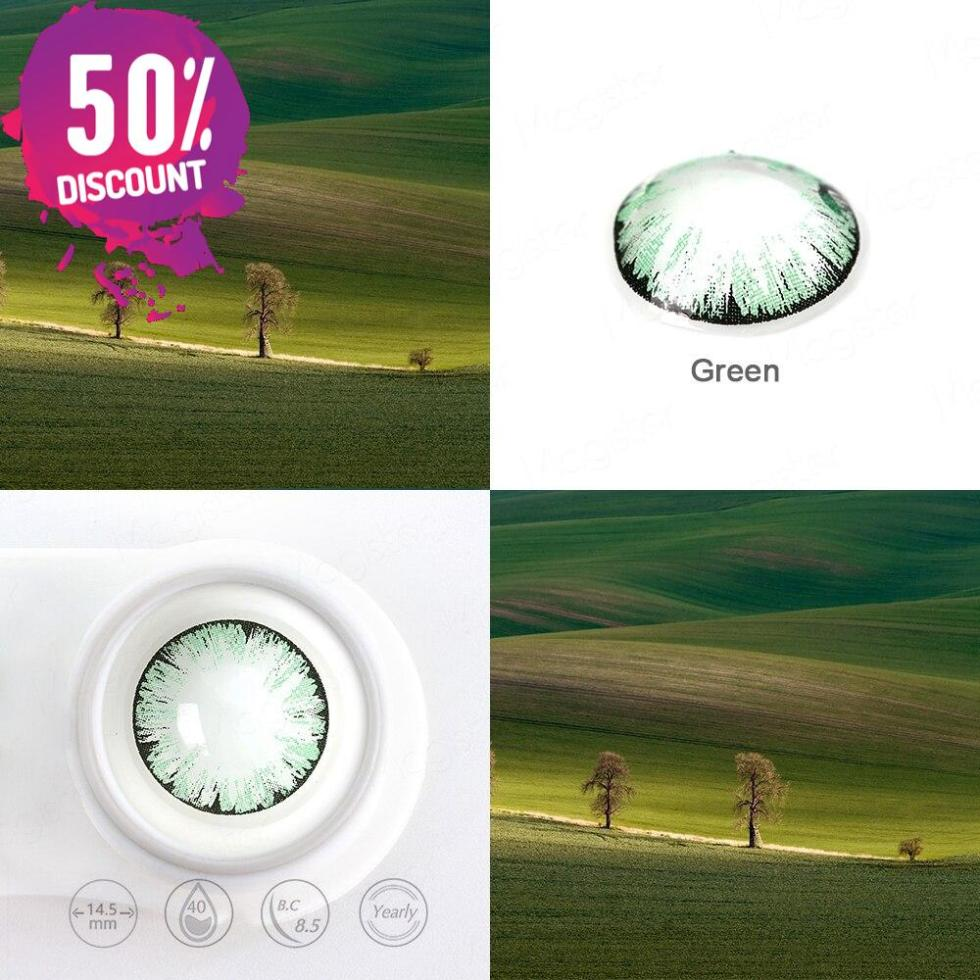Glitter Colored Eye Contact Lenses for a Beautiful Sparkling Look-Premium Quality