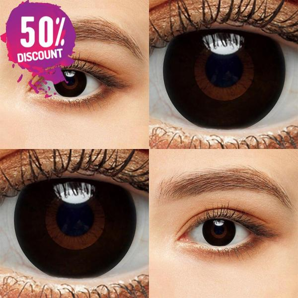 Blackout Eye Contacts For Cosplay Halloween White and Black Colored Cat Eyes Eye Contact Lenses FREE SHIPPING 6