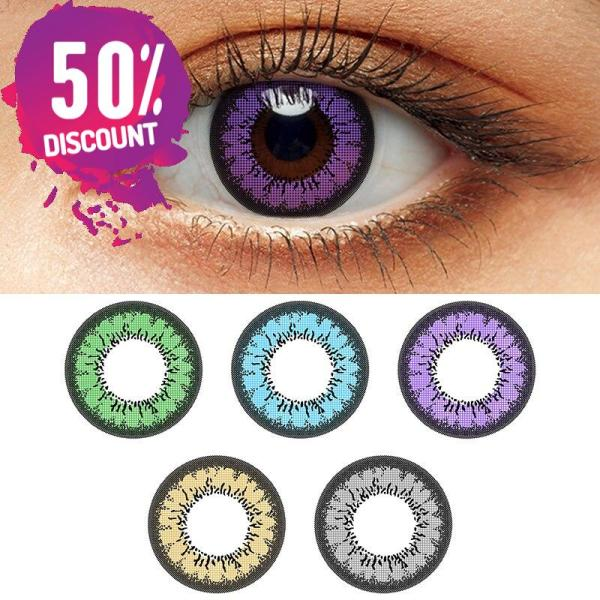 Flare Colored Eye Contact Lenses for Brown Green Blue Violet Gray Candy Color Eyes Eye Contact Lenses FREE SHIPPING 3